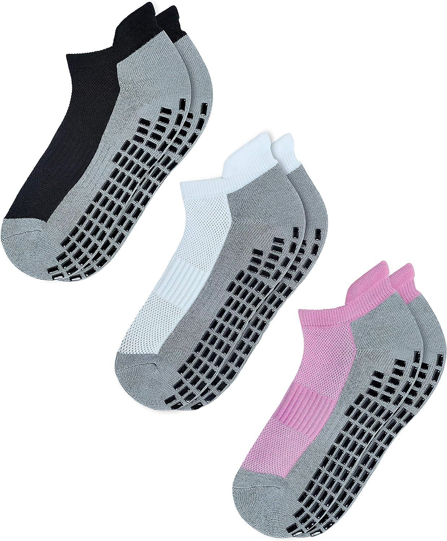 RATIVE Super Grips Anti Slip Non Skid Yoga Hospital Socks for Adults Men Women