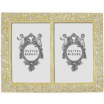 Amazon.com : WINDSOR GOLD Austrian Crystal DOUBLE 4x6 frame by ...
