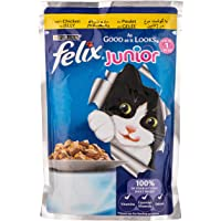 Purina Felix Junior As Good as it Looks Chicken Wet Cat Food Pouch, 100 gm