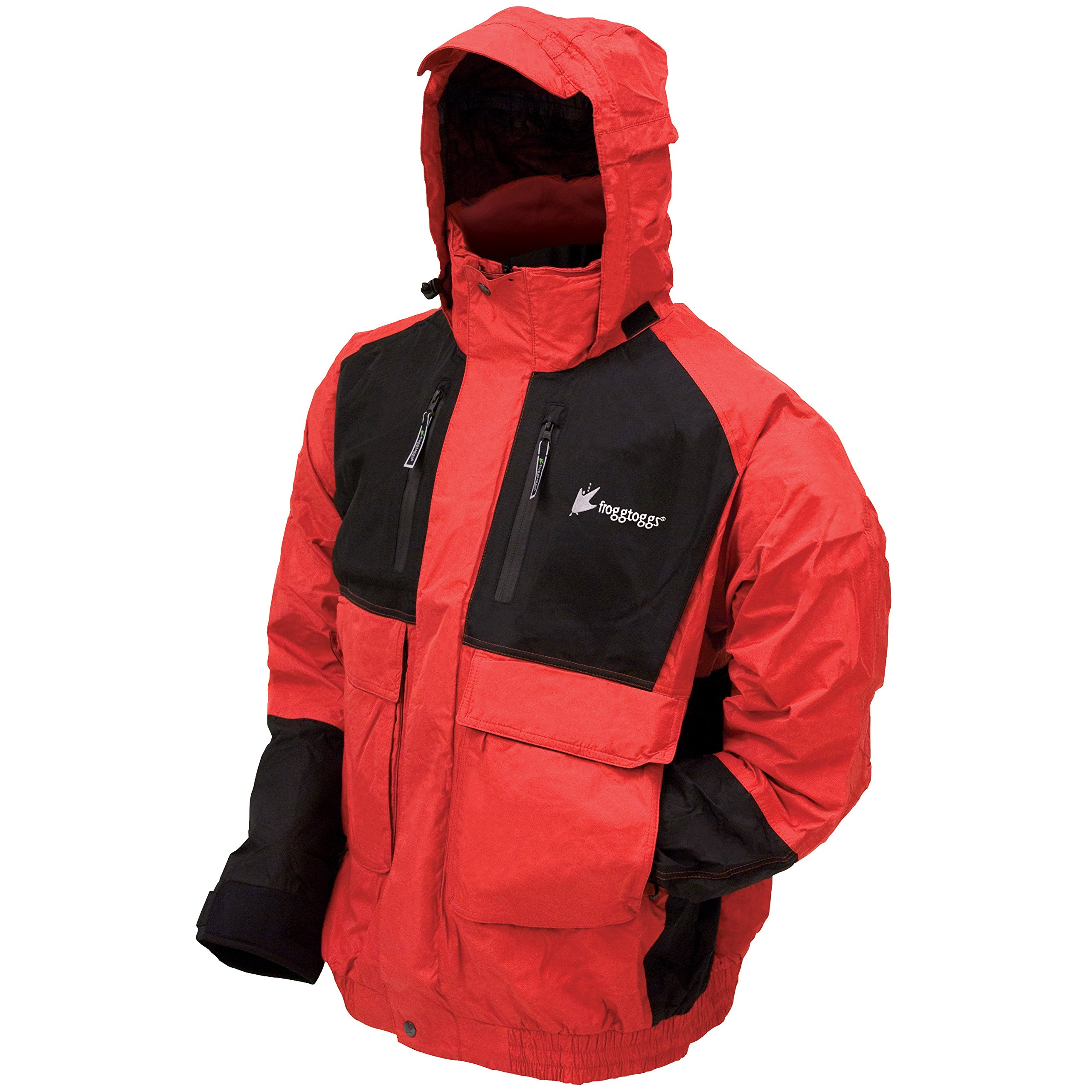 Frogg Toggs Men's Firebelly 2-Tone Jacket, Red/Black, Medium by Frogg Toggs