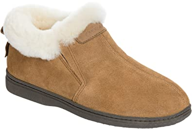 f52a0d61898 Women's Terra Shearling-Lined Cowhide Suede Slipper Shoes