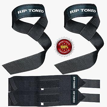 Muñequeras para levantamiento de pesas + pesa (1par de cada)