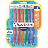 Paper Mate Clearpoint Color Lead Mechanical Pencils, 0.7mm, Assorted Colors, 6 Count