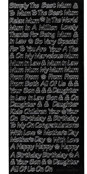 Schwarz Craft Dekoaufkleber, verschiedene Sprüche für Mama