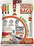 DIBAG ® 6 Buste - sacchetti di immagazzinaggio di vuoto salvaspazio (130*90 cm) .per l'abbigliamento, Piumini, Biancheria da letto, cuscini, tende & More