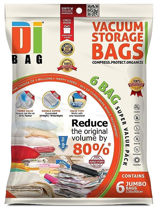 159 opinioni per DIBAG ® 6 Buste- sacchetti di immagazzinaggio di vuoto salvaspazio (130*90 cm)