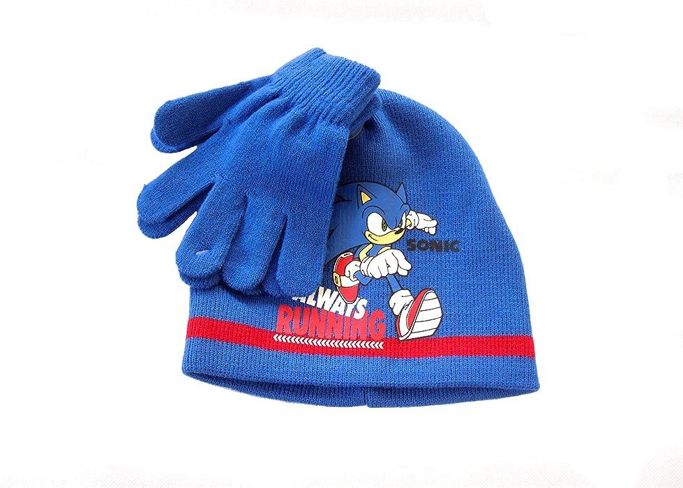 2a1cd795b05 Sonic The Hedgehog BOYS BEANIE HATS GLOVES 2-8 YEARS (2-4 years ...