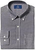Buttoned Down Men's Classic Fit Button-Collar Pattern Non-Iron Dress Shirt (Pocket)