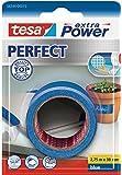 Tesa Extra Power Perfect - Cinta de tejido, 2.75 m x 38 mm, color azul