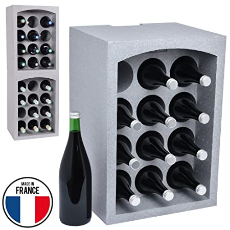 Talous BuonVino - Free Standing Wine Rack for Storage Isolating Styrofoam Stackable Coolbox 35x295x50  sc 1 st  Amazon UK & Talous BuonVino - Free Standing Wine Rack for Storage Isolating ...