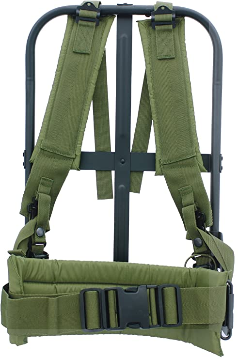 Amazon.com   Army Universe New Black Military Alice Pack Frame with Olive  Drab Suspender Straps   LC-1 Kidney Pad   Tactical Backpacks   Sports    Outdoors 37b0341c7b5