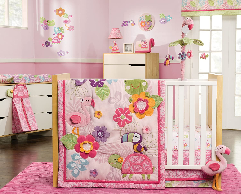 Amazon.com : Carter's 4 Piece Crib Set, Tropical Garden (Discontinued by  Manufacturer) : Nursery Bedding : Baby - Amazon.com : Carter's 4 Piece Crib Set, Tropical Garden