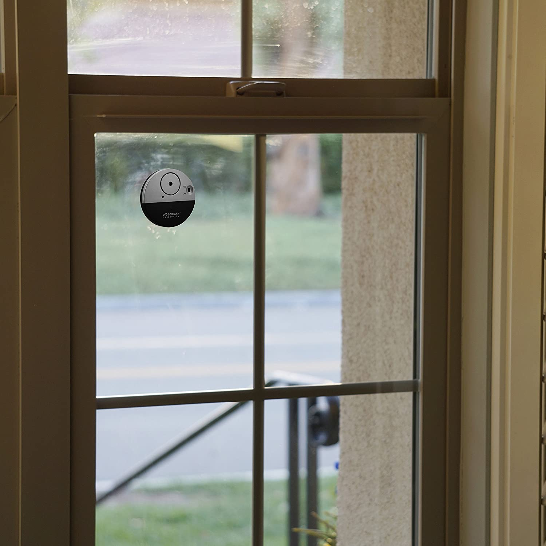 Design moderne et ultra-mince Compatible avec pratiquement tous Fen/être Dorm Room ou m/ême VR DOBERMAN SECURITY Ultra-Slim Alarme Fen/être avec fort Alarme 100dB et capteurs de vibration Mod/èle S Parfait pour la maison bureau