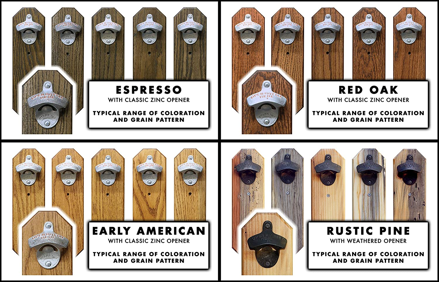 Wall Mounted Bottle Opener with Vintage Wisconsin Holiday Beer Can Cap Catcher
