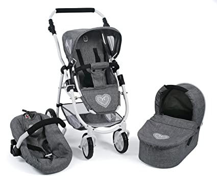 Bayer Chic 2000 637 76 Carrito Emotion All in, 3 en 1 de muñecas,