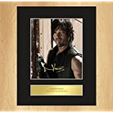 Signiertes Foto mit Wandhaken, Norman Reedus (Daryl Dixon, The Walking Dead)