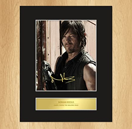 Norman Reedus - Daryl Dixon Signed Mounted Photo Display The Walking ...