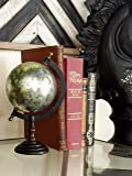 "Deco 79 27939 Metal Wood Globe, 10"" x 5"""