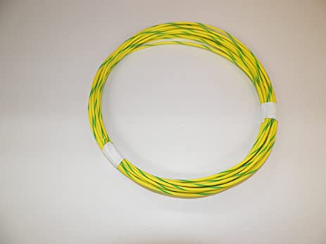 Amazon.com: 18 Ga Awg Yellow/Green Striped Automotive/General ...