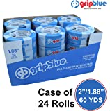 "GripBlue™ 2"" (1.88""/48mm) X 60 YDs Multi-Use Blue Painters Tape 