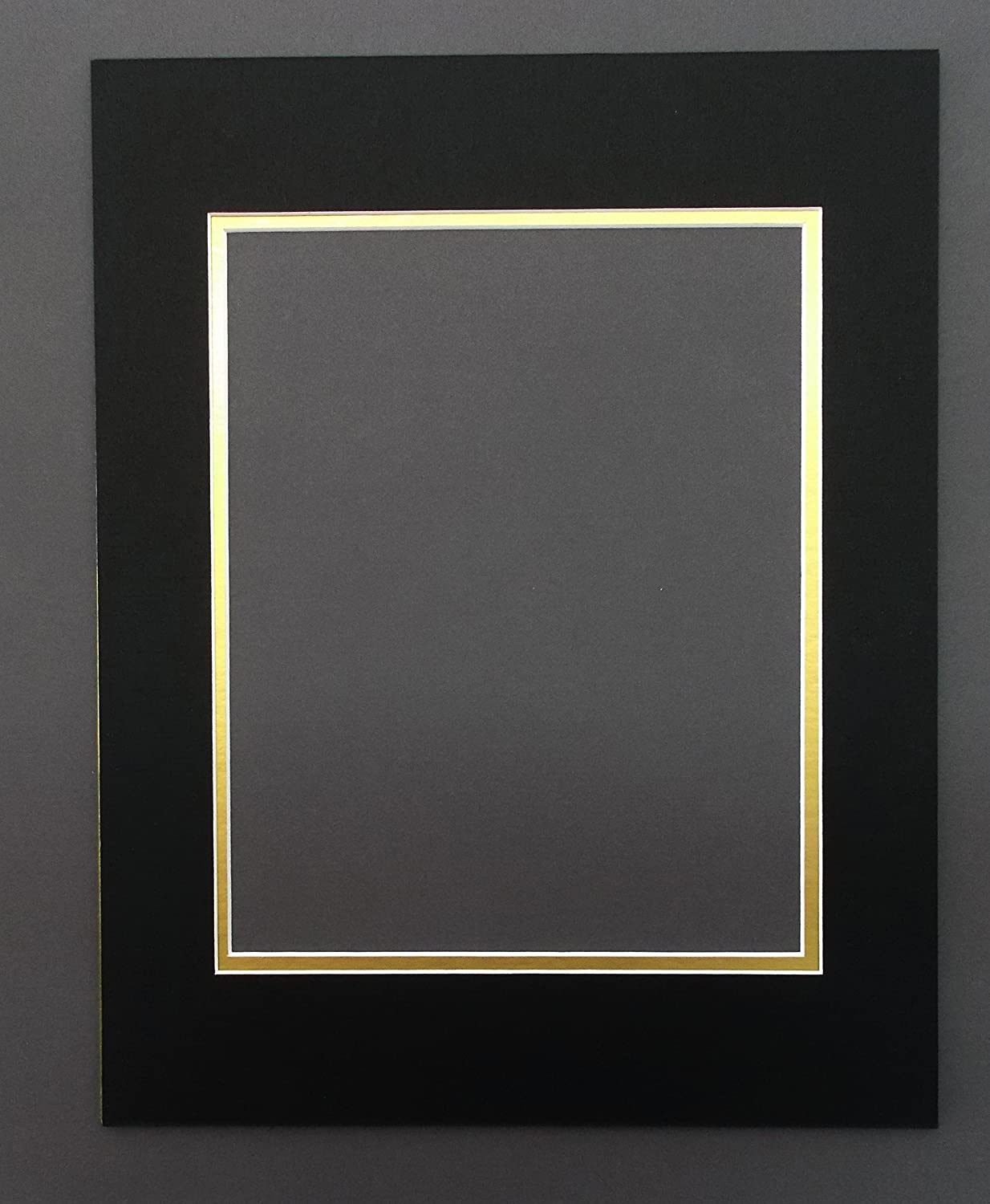 Amazon pack of 5 11x14 black gold double picture mats amazon pack of 5 11x14 black gold double picture mats mattes matting cut for 8x10 pictures arts crafts sewing jeuxipadfo Gallery