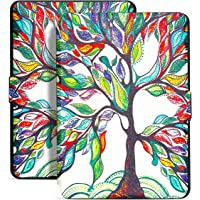 iThrough Kindle Paperwhite Flip Case, E-reader Protective Colorful Case Cover With Auto Wake/Sleep Smart, Fits All 2012, 2013, 2015 and 2016 Versions Amazon Kindle Paperwhite(Tree)