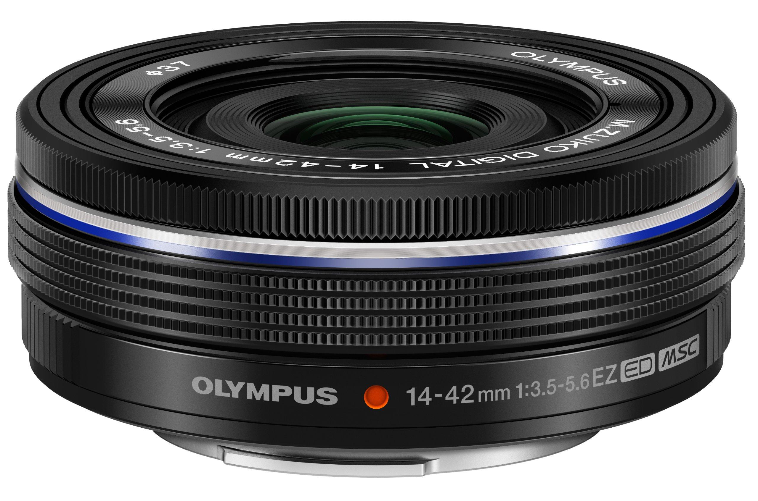 Olympus 14-42mm f3.5-5.6 EZ Interchangeable Lens for Olympus/Panasonic Micro 4/3 Digital Camera (Black) by Olympus