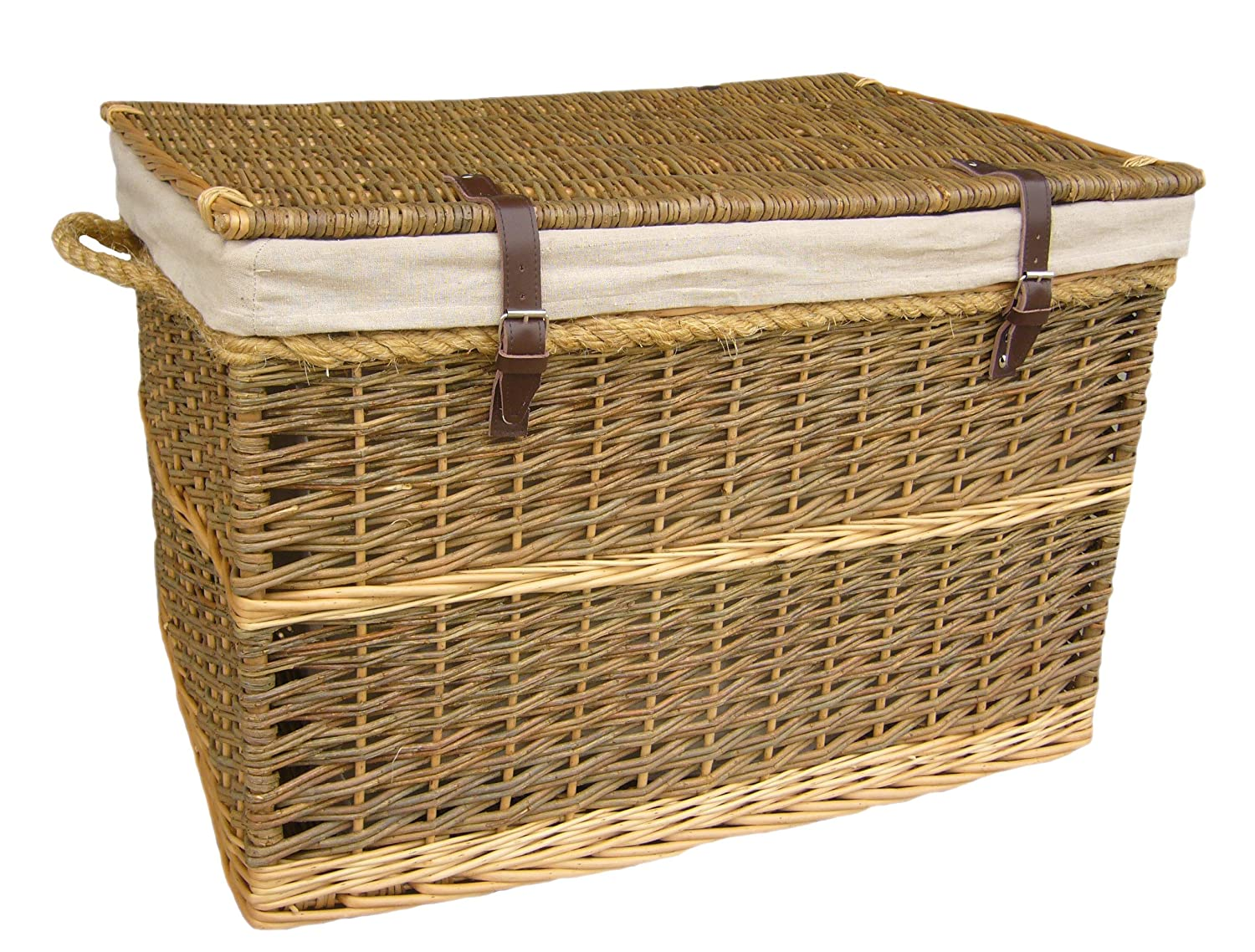 Captivating Extra Large Wicker Willow, Lined Storage Hamper. Ideal For Clothes, Toys,  Etc.: Amazon.co.uk: Kitchen U0026 Home