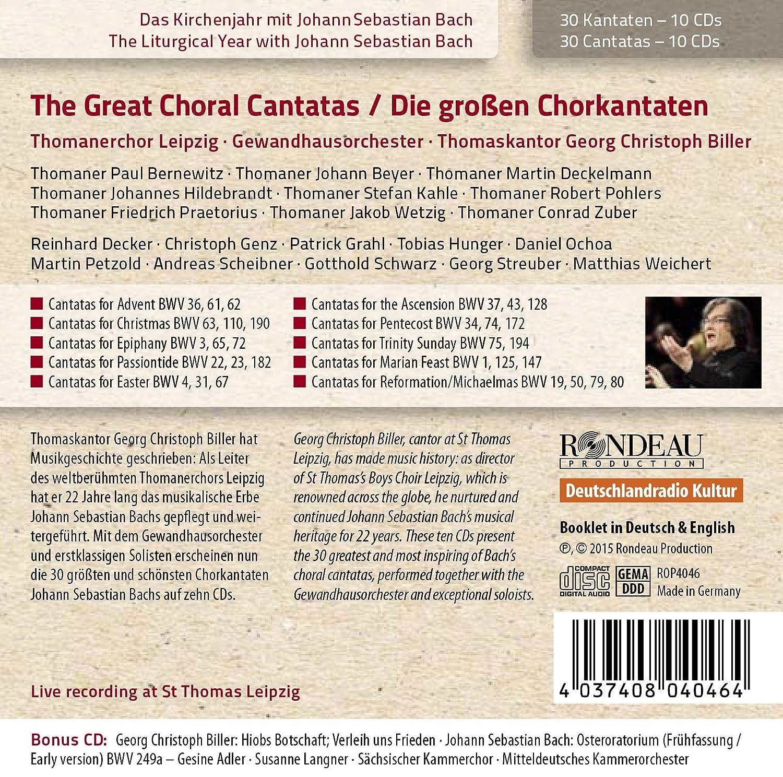 J.S. Bach: Die großen Chorkantaten [11 CDs] - Thomanerchor Leipzig, Johann  Sebastian Bach, Georg Christoph Biller: Amazon.de: Musik