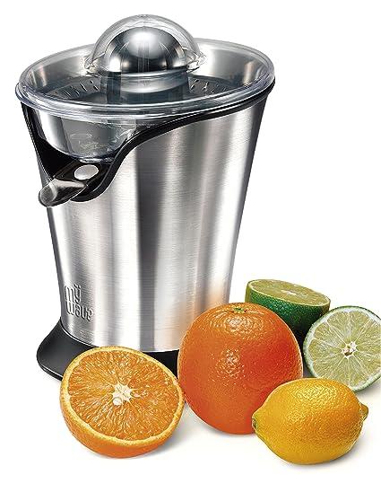 MyWave Palawan - Exprimidor de Zumo 85 W, ideal para Naranjas y otros cítricos, 2 conos exprimidores intercambiables y espacio para recogerlos, ...