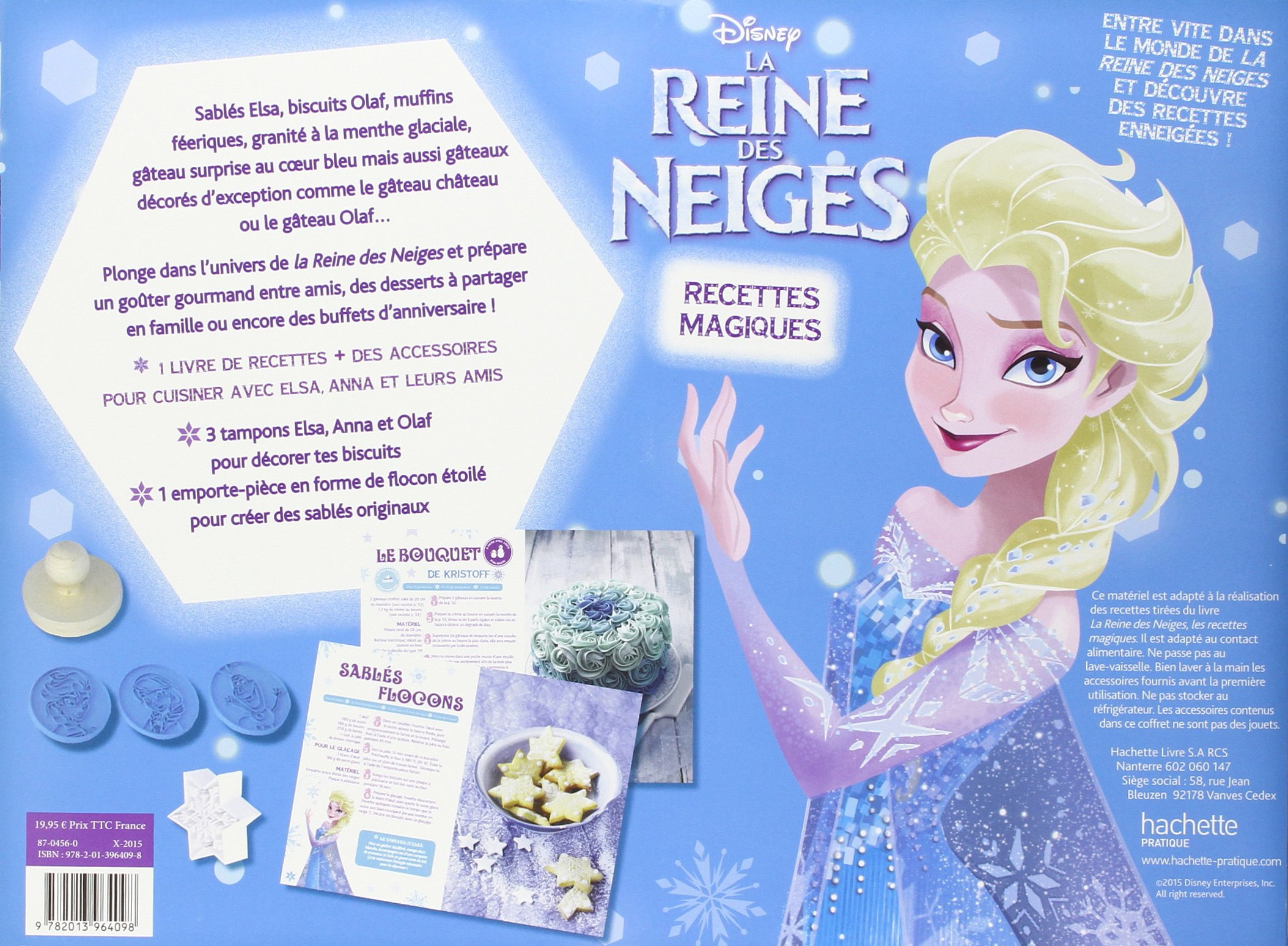 La Reine Des Neiges Recettes Magiques Avec 1 Livre De
