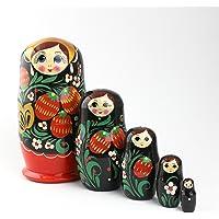 Heka Naturals Matryoshka muñecas Rusas Hechas a Mano