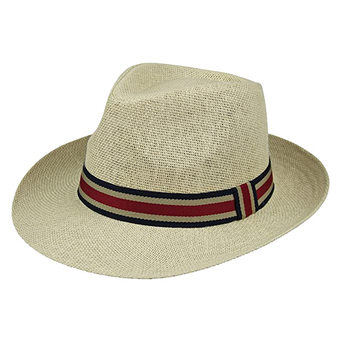 By Neki Mens Trilby Hat with Contrasting Black Hat Band UK Seller