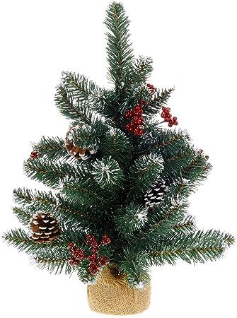 Mini Weihnachtsbaum kleiner Bonsai Christbaum künstlich 46cm Türdeko Weihnachten