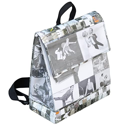 303f6ce280d0 Backpack made using vintage black   white images - FREE SHIPPING upcycled  recycled reclaimed handmade vegan beautiful fun chic nice stunning present  back ...