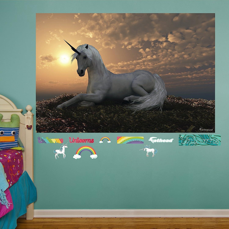 amazon com fathead unicorn at dusk mural real big wall decal amazon com fathead unicorn at dusk mural real big wall decal home kitchen