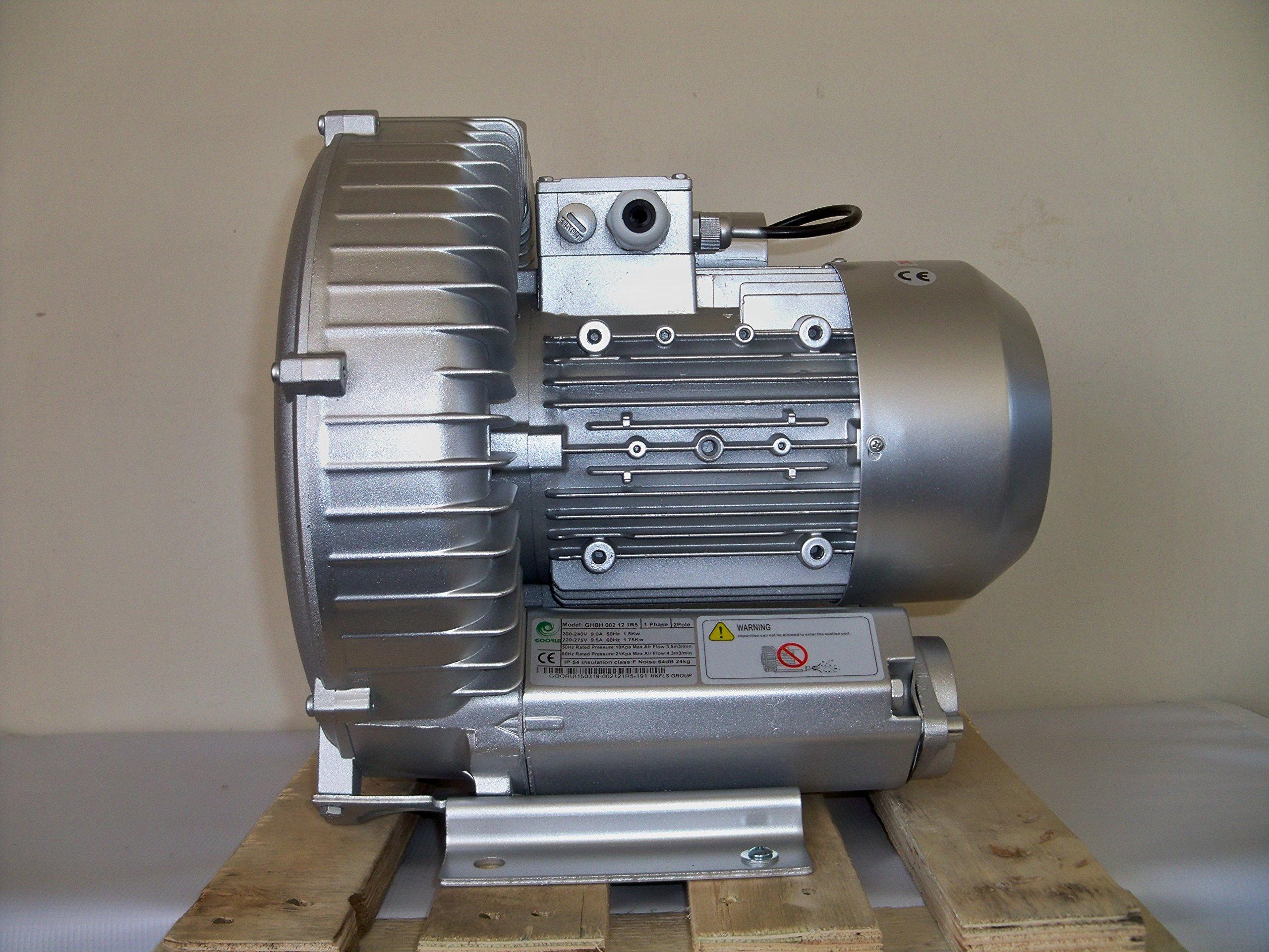 Regenerative Blower 2.3 Hp, 1Ph 220-240V, 150 CFM, 72''H2O Press