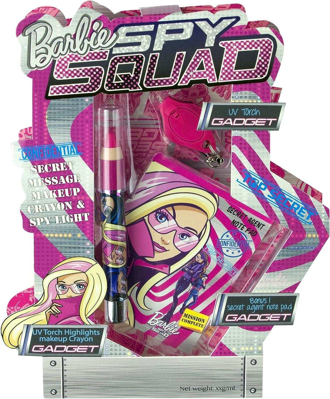 Barbie - Spy Squad Confidential Secret Message Body Crayon & Spy light, kit de productos de maquillaje (Markwins 9620510): Amazon.es: Juguetes y juegos