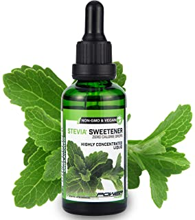 ALPHA POWER FOOD: Stevia líquida natural - Stevia pura 100% - sin gusto,