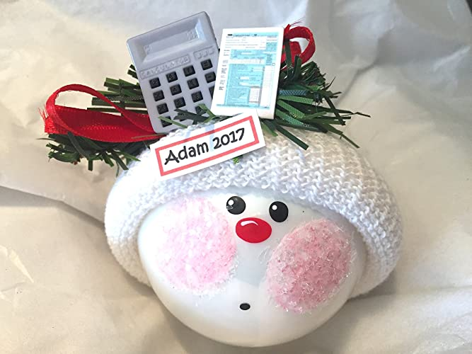 amazon com accounting gift christmas ornament tax form gray