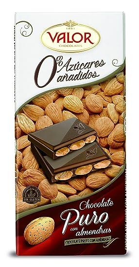 Chocolates Valor - Chocolate puro con almendras - 150 g - [pack de 3]