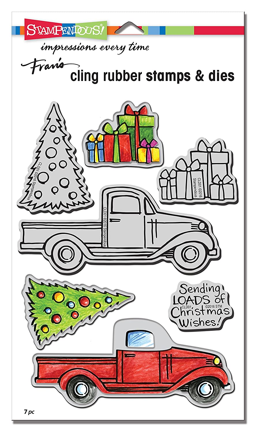 STAMPENDOUS CLD01 Truck Tidings Cling/Die Set Sonny Ind.