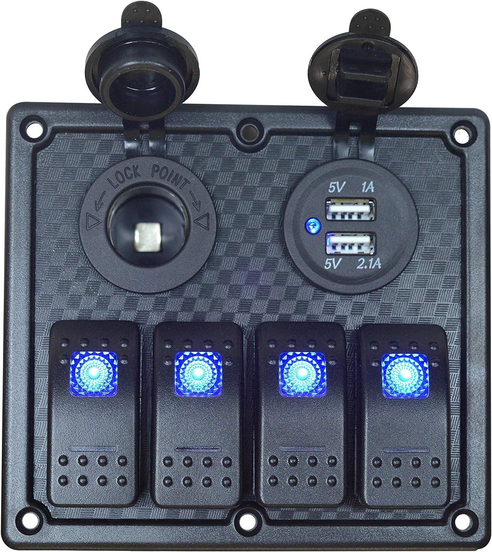 amazon.com : joyho 4 gang rocker switch panel fuse panels ...  amazon.com
