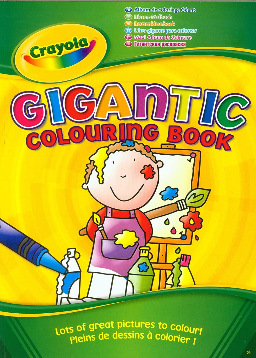 Crayola Gigantic 130 Page A4 Colouring Book: Amazon.co.uk: Toys & Games