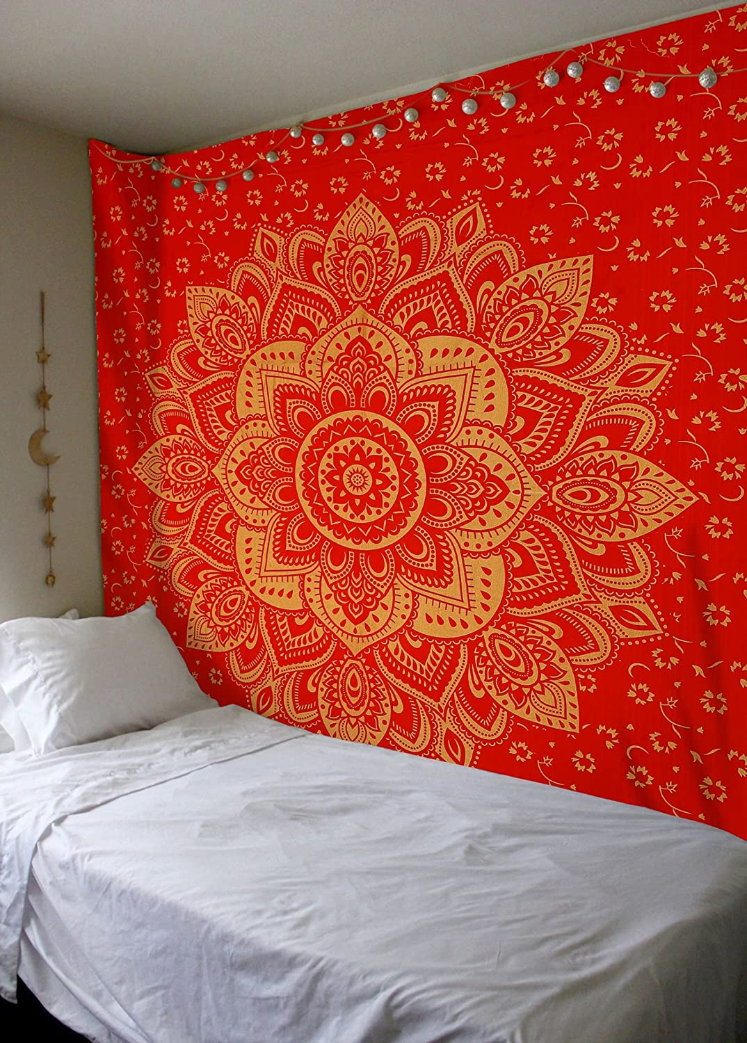 Amazoncom Madhu International Red Gold Ombre Tapestry