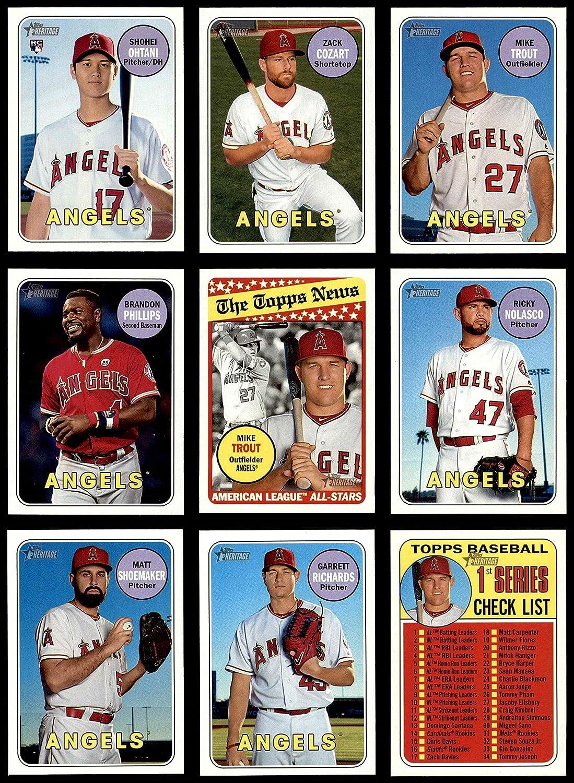 2018 Topps Heritage Los Angeles Angels Team Set Los Angeles Angels (Baseball Set) Dean's Cards 8 - NM/MT Angels 912BhgqIRR-LSL1500_