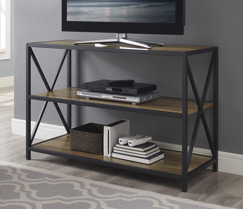 WE Furniture Wood Media Bookshelf in Rustic Oak - 40''