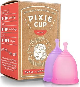 Pixie Cup Nº 1 para la mayoría de copas menstruales cómodo y ...