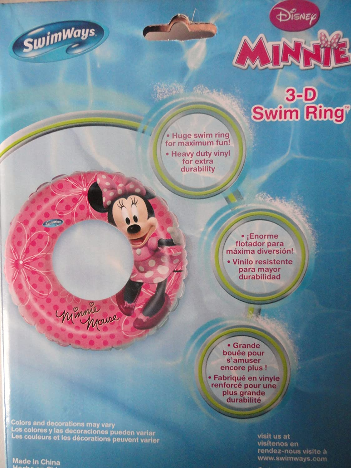Amazon.com: Disney Minnies Bow-Tique - 3-D Swim Ring by Swim Ways: Toys & Games