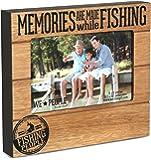 "Pavilion Gift Company 67219 We People Fishing People Frame, 7-1/2 x 6-3/4"""